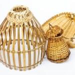 Thailand bamboo fishing trap — Stock Photo
