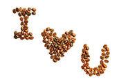 Ich liebe kaffee — Stockfoto