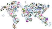 Conceito de mapa mundo médico. — Fotografia Stock