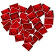 Abstract photo of love concept putting together heart shape — Stock Photo #37673319