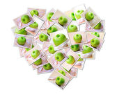 Abstract photo of Green apple diet — Stock Photo
