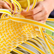Stock Photo: Making Basket