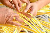 Making a Basket — Stock Photo