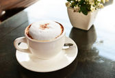 Káva cappuccino — Stock fotografie