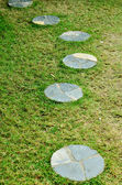Garden stone path — Stock Photo