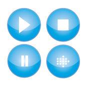 Media player buttons collection vector design — Stock Vector