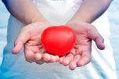 Heart in heart hands — Stock Photo