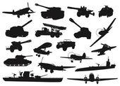 Military ww2 — Stock Vector