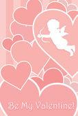 Valentine kortdesign — Stockvektor