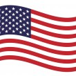 Stock Vector: US flag