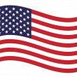 Royalty-Free Stock Vector Image: US flag