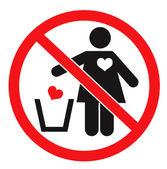 Don't. Love concept — Stock Vector