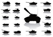 Weapon.Tanks — Stock Vector
