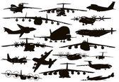 Aviación de transporte — Vector de stock