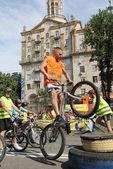 Bike tricks — Stock Photo