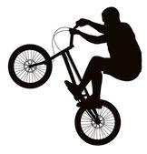 Biker silhouette — Vector de stock
