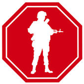 Stop war sign.  Vector — Vector de stock