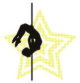 Pole dancer — Stock Vector