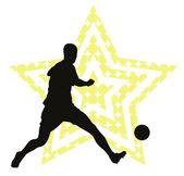 Soccer star concept — Stock Vector