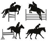 Equestrian sports set — Wektor stockowy
