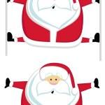 Santas splits — Stock Vector #7912580