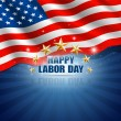 Stock Vector: Labor Day in the American Background