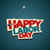 Felice giorno di lavoro americano. segni di testo — Vettoriale Stock