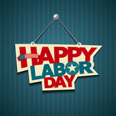 Happy Labor day american. text signs — Vector de stock