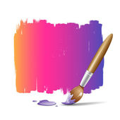 Paint brush colorful background — Stock Vector