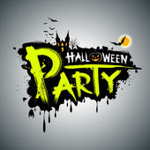 Halloween party. message design — Vector de stock