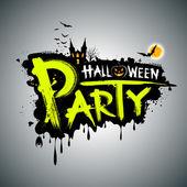 Halloween party. message design — Stock Vector