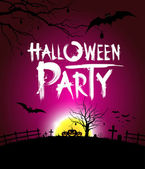 Halloween party at night background — Stock Vector