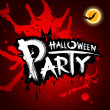 Halloween party blood red background — Stock Vector #13346486