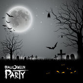 Halloween party scary background — Vector de stock