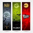 Halloween banners set design — Stock Vector