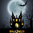 Royalty-Free Stock Vector Image: Happy Halloween party house scary background