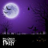 Happy Halloween scary on purple background — Stock Vector