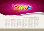 Calendar 2013 new year design colorful background — Stock Vector
