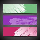 Cepillo de pintura banner fondo colorido — Vector de stock