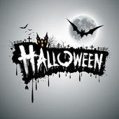 Happy Halloween text design background — Stock Vector