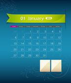 January 2013 calendar ribbon design — Stock Vector