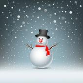 Snowman — Stock Vector