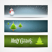 Merry Christmas banner — Vector de stock