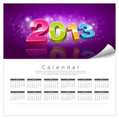 Vector Calendar 2013 new year background — Stock Vector