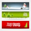Merry Christmas banners set design background — Stock Vector #14271851