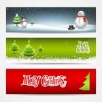 veselé vánoční nápisy nastavit provedení pozadí — Stock vektor