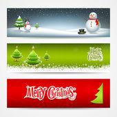Banners de navidad alegre establecer fondo de diseño — Vector de stock