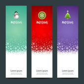 Merry Christmas banner vertical background — Stock Vector