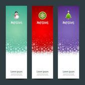 快乐圣诞节横幅垂直背景 — 图库矢量图片