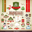 merry christmas collecties ontwerpen — Stockvector